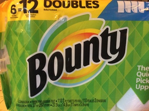 Bounty Paper Towels-6 pack (double roll)